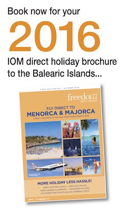 Fly Direct to Menorca & Majorca from Isle of Man